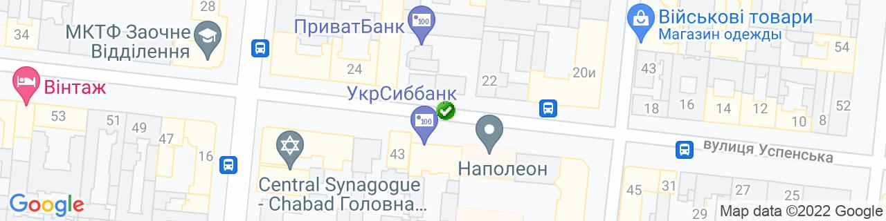 Карта объектов компании Строй-Юг
