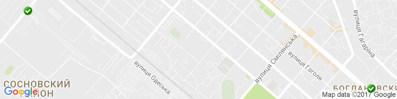 Карта объектов компании Сучасне Вікно, ТМ