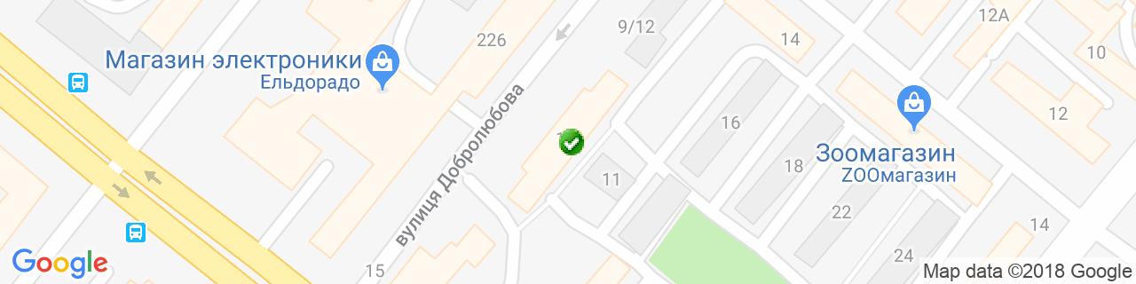Карта объектов компании ТеплОкна