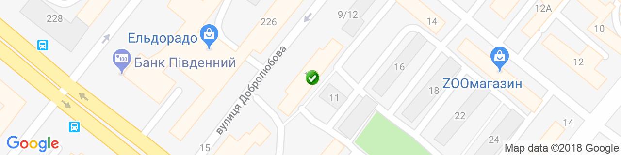 Карта об'єктів компанії ТеплОкна