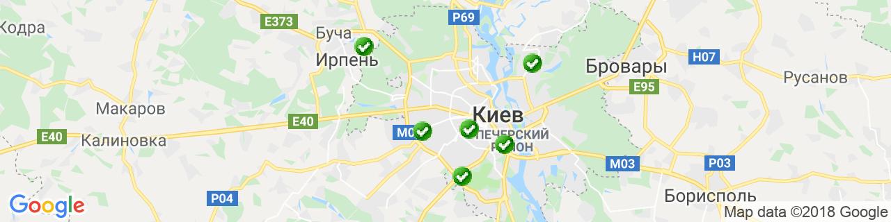 Карта объектов компании Тепловікна