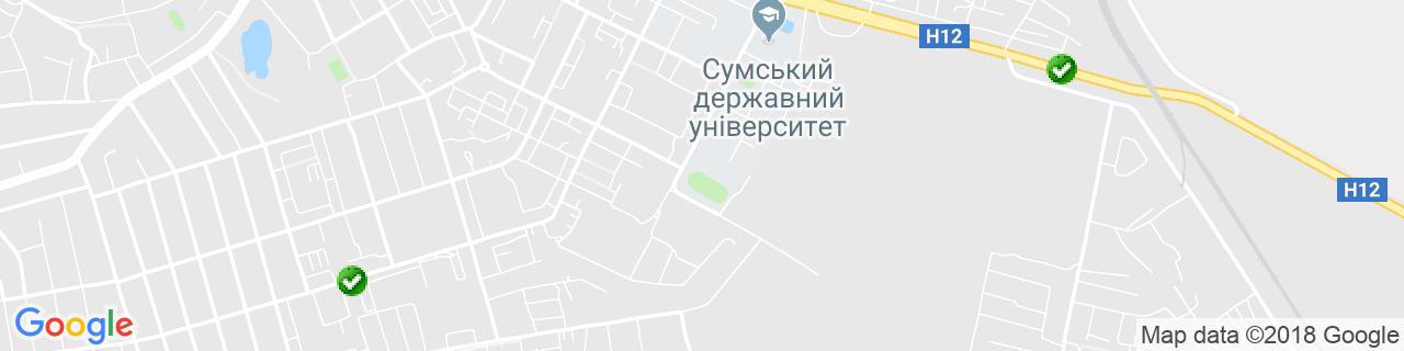 Карта об'єктів компанії Товкач К.В.