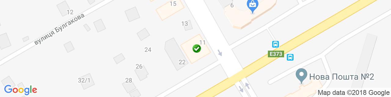 Карта объектов компании TVN-plast