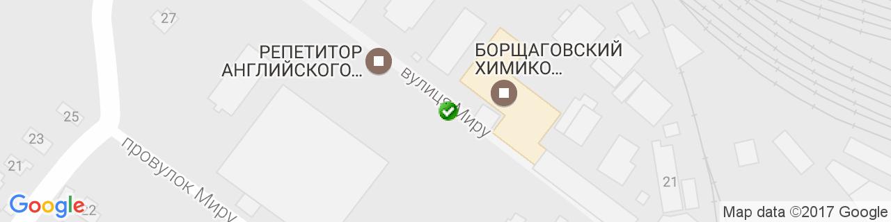 Карта объектов компании Украина Пласт
