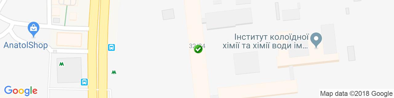 Карта объектов компании УкрВікнаБуд