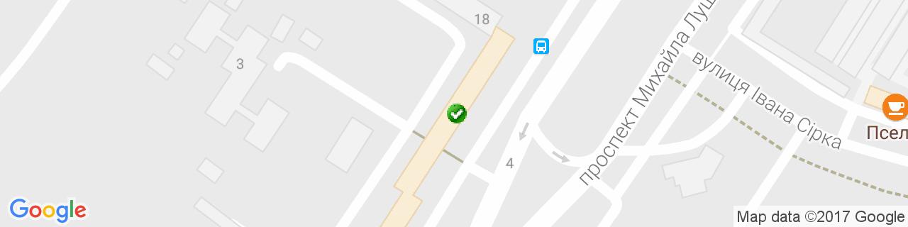 Карта объектов компании Уют Центр