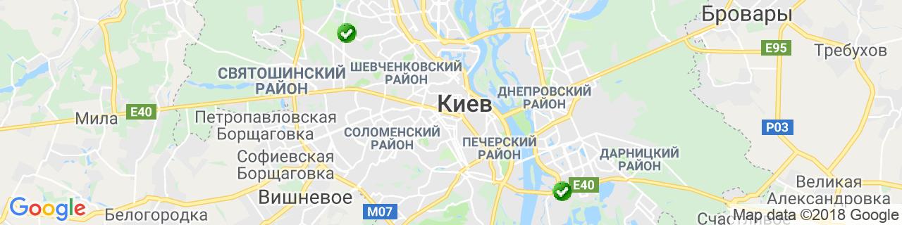 Карта объектов компании ВАЛТАР