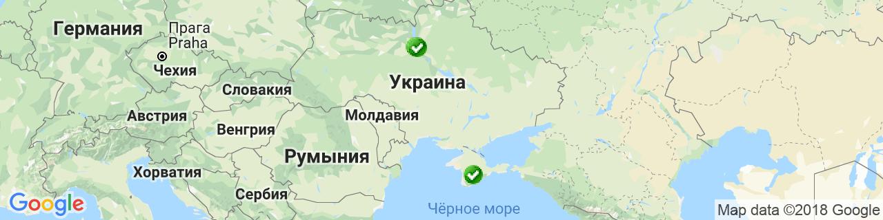 Карта объектов компании Варема Украина