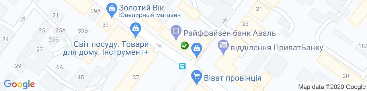 Карта об'єктів компанії Все для ремонту
