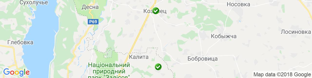 Карта объектов компании Верба