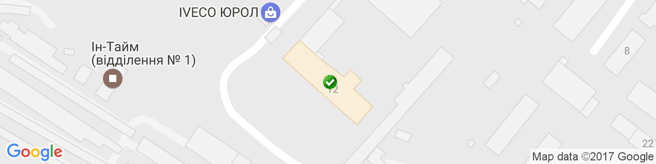 Карта объектов компании Кращий вибір