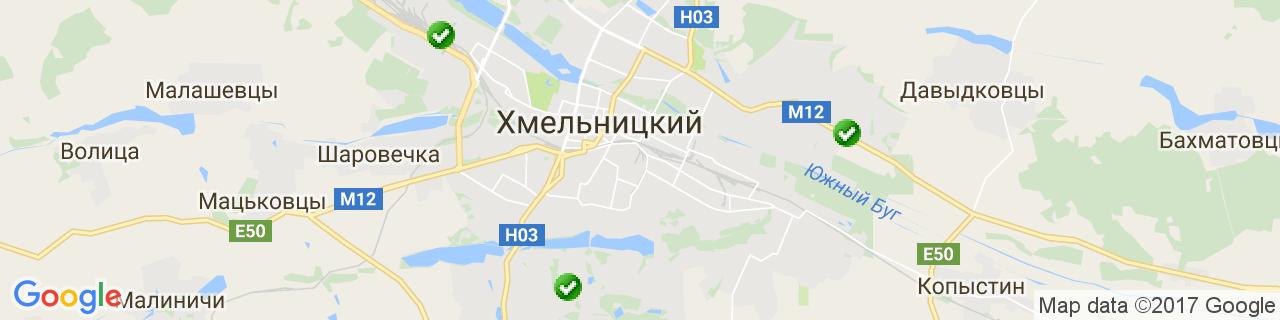 Карта объектов компании Василюк М.Н.