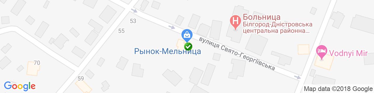 Карта объектов компании Viknaroff, представительство
