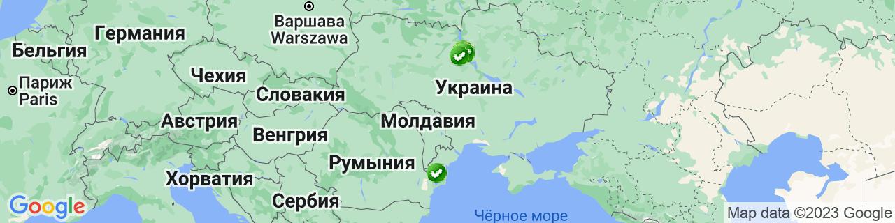 Карта объектов компании Викна-Стар, ТМ