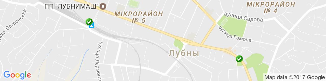 Карта объектов компании ВікнаСвіт