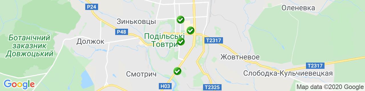 Карта объектов компании ТМ ВікноПлюс