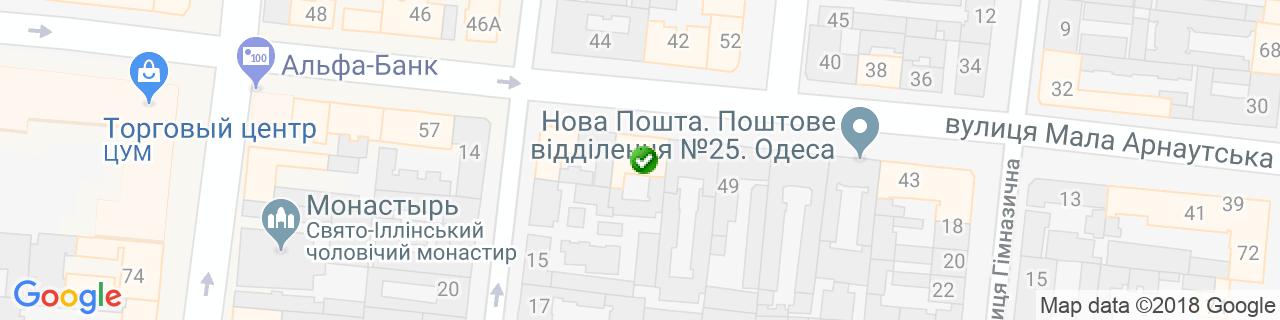 Карта объектов компании ВікноПлюс, представительство