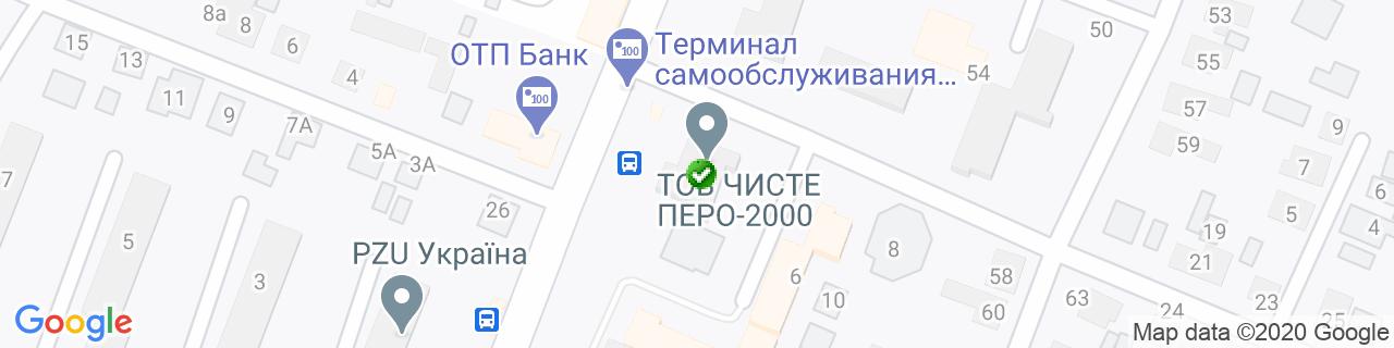 Карта объектов компании Вікносвіт