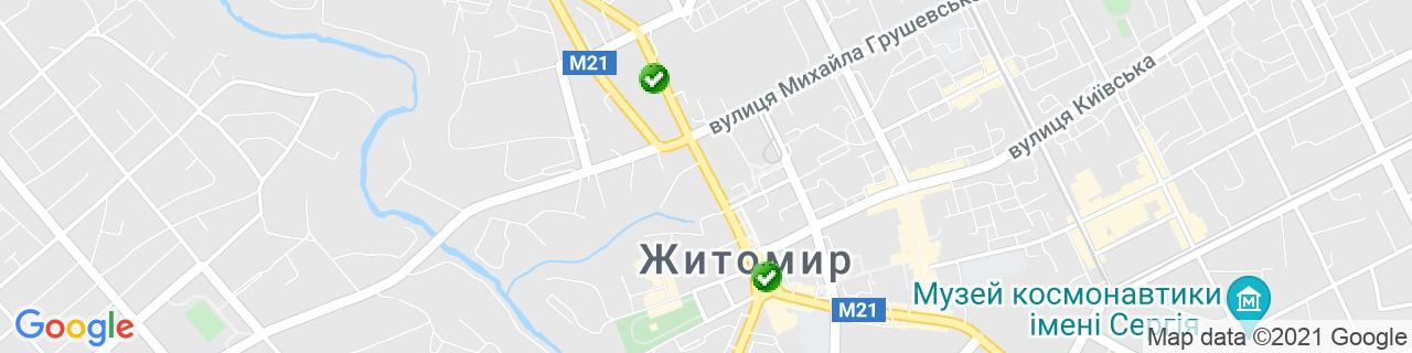 Карта об'єктів компанії Вікнова (Суханов П.І.)