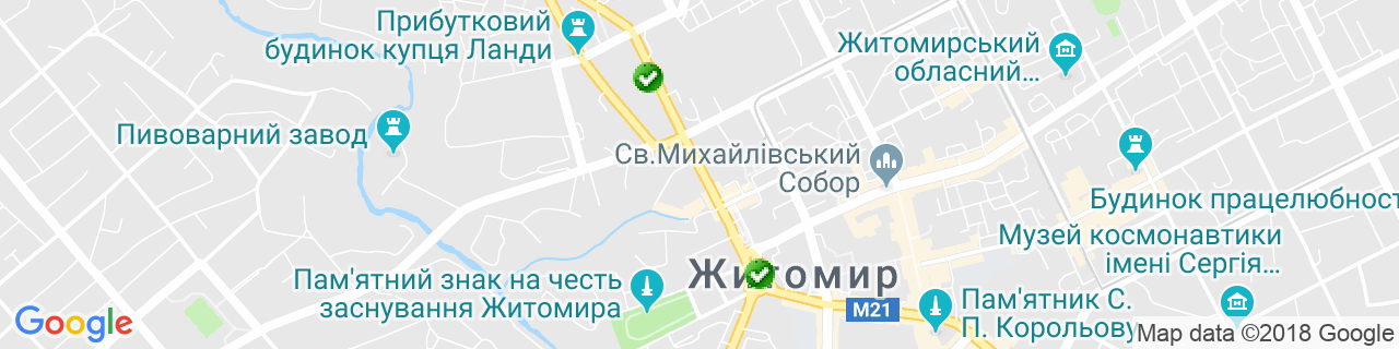 Карта объектов компании Вікнова (ПП Суханов)