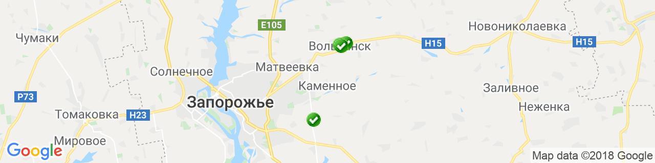 Карта объектов компании Виконда