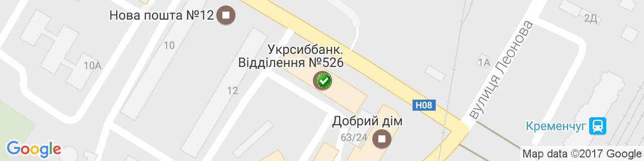 Карта объектов компании Віконна Крамниця