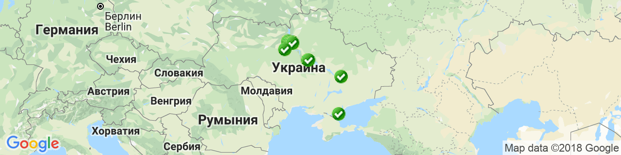 Карта объектов компании Вікна Декор Енергія (WDE)