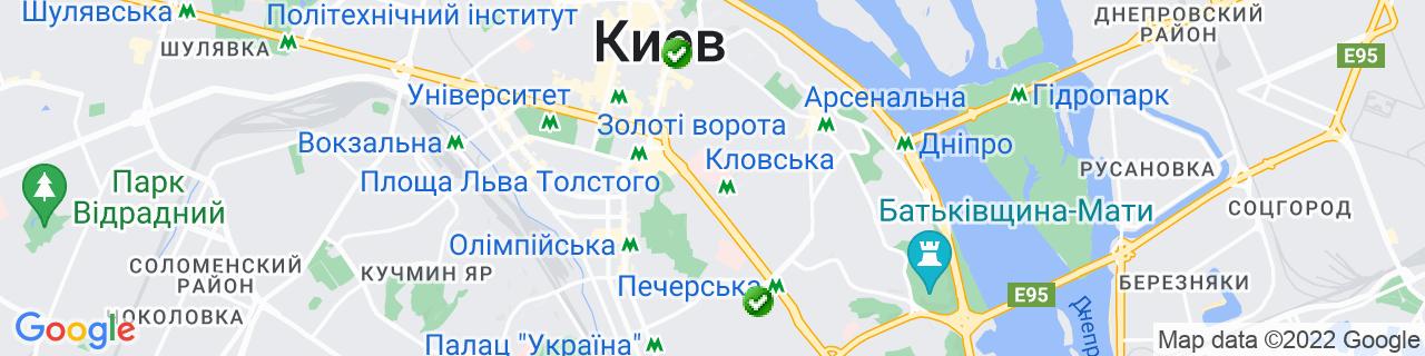 Карта об'єктів компанії ВЕГА-ПЛАСТ