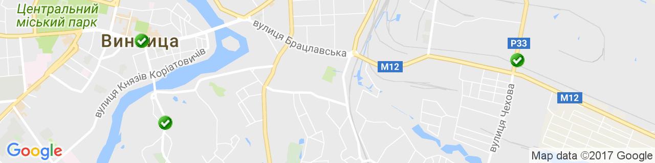 Карта объектов компании VEKA-NIK