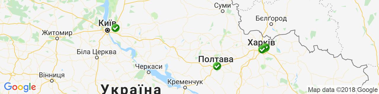 Карта об'єктів компанії GoodWin, завод