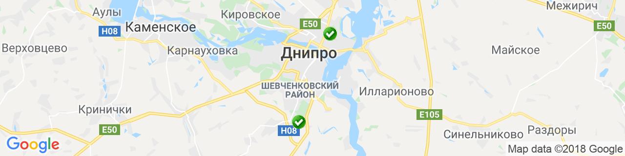 Карта объектов компании Зайченко
