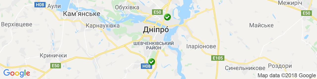 Карта об'єктів компанії Зайченко